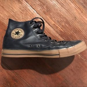 Navy Leather Converse shoes size 12